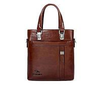 Стильная мужская сумка Fettenisi. Размер 29-31-5 см