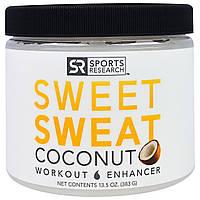 Sports Research, Sweet Sweat, предтренировочный комплекс с кокосовым вкусом, 13,5 унций (383 г)