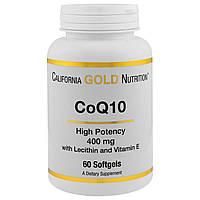 California Gold Nutrition, Коэнзим Q10, 400 мг, 60 мягких желатиновых капсул