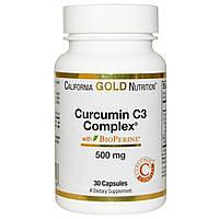 California Gold Nutrition, Куркумин, комплекс С3, 500 мг, 30 растительных капсул