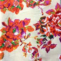 Ткань поплин набивной стрейчевый (Цветочный рисунок)