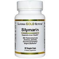 California Gold Nutrition, Экстракт расторопши пятнистой, 300 мг, 30 капсул в растительной оболочке