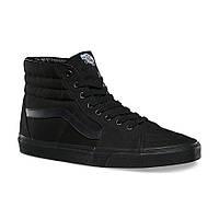 Зимние кеды Vans Old Skool high CANVAS SK8-HI all black с мехом (Реплика ААА+)