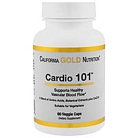 California Gold Nutrition, Targeted Support, Cardio 101, 60 растительных капсул