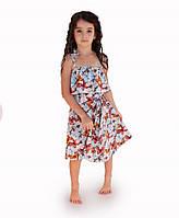 Платье детское летнее Бабочки голубое ТМ Прованс by Vona