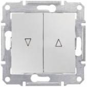 Выключатель для жалюзи с электрической блокировкой,  Алюминий, Sсhneider Electric (Шнайдер) SEDNA (Седна)