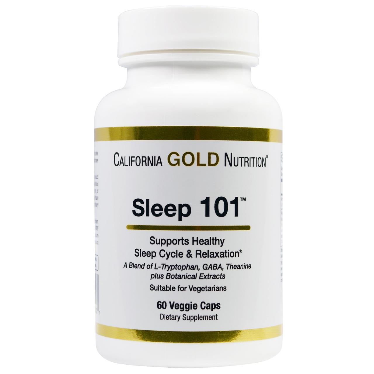 California Gold Nutrition, Targeted Support, Sleep 101, 60 растительных капсул