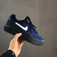 Кроссовки мужские Nike Air Max 87 ultra flyknit black / blue