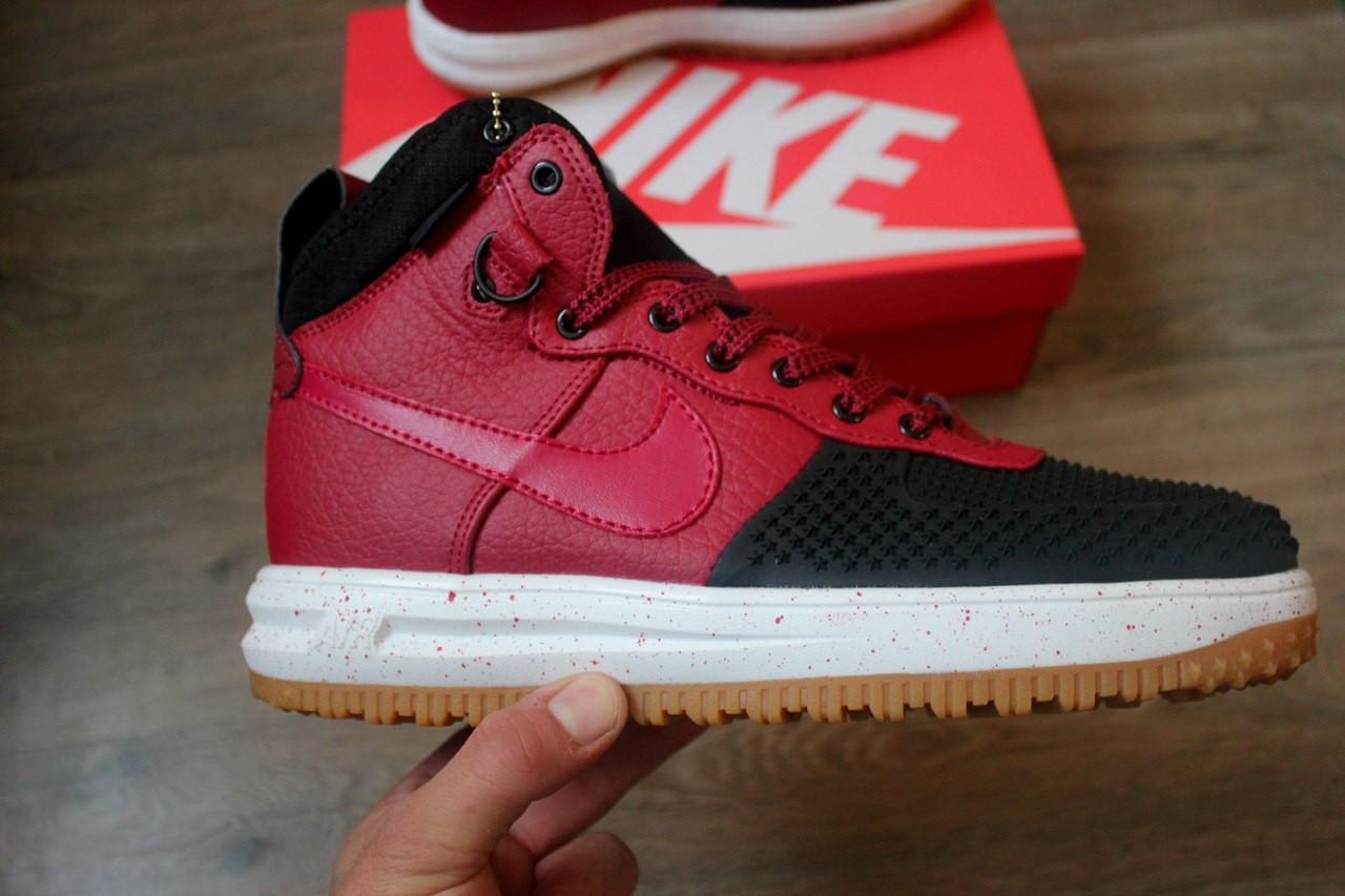 e15d13b301ab Кроссовки Nike Lunar Force 1 Duckboot Red без меха (Реплика ААА+) - Интернет