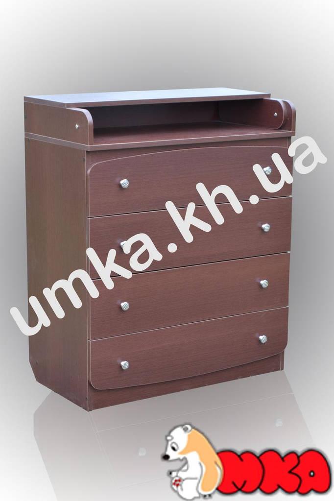 Комод с пеленаторм Baby (4 ящика) Венге темный