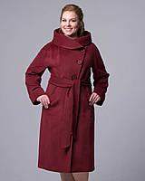 Демисезонное женское пальто 48-56рр, марсала
