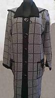 Элегантное женское пальто-кардиган с капюшоном большого размера производства Венгрии.