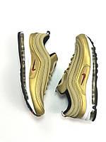 "Мужские кроссовки Nike Air Max 97 ""Gold Bullet"". Живое фото. Топ качество! (Реплика ААА+)"