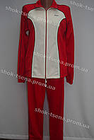 Спортивный трикотажный костюм красно-белый