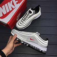 "Кроссовки Nike Air Max 97 ""Silver Bullet"" рефлективные.  ААА+ Живое фото (Реплика ААА+)"