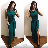 Женское стильное платье макси (3 цвета)