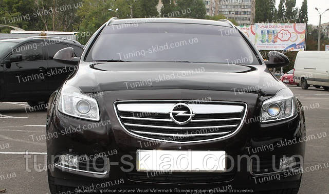 Дефлектор Опель Инсигния (мухобойка на капот Opel Insignia)