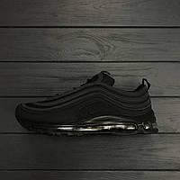 "Мужские кроссовки Nike Air Max 97 ""All black"". Живое фото. Топ качество! (Реплика ААА+)"