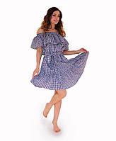 Платье летнее Голубая клеточка ТМ Прованс