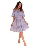 Платье летнее Голубая полоска ТМ Прованс by Vona