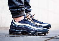 Мужские кроссовки Nike Air Max 95 Prepium Denim. Топ качество! (Реплика ААА+)