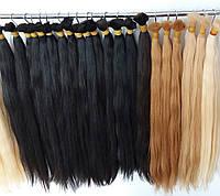 Волосы в срезе Люкс Блонд 613 и палитра цветов. Длина 60-65-70 см 50 грамм