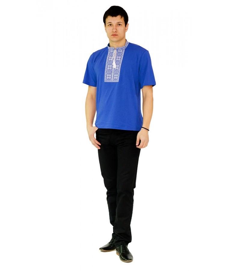 Сучасні українські сорочки. Чоловіча вишита футболка. Машинна вишивка. Стильна вишита чоловіча футболка.