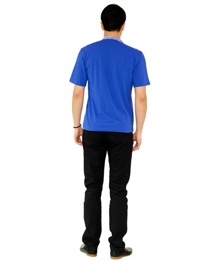 Чоловіча вишита футболка. Машинна вишивка. Стильна вишита чоловіча футболка. b1f9521992276