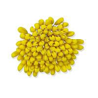 Тычинки для тюльпана - Желтые, размер головки 4x10 мм, длина стебля 11-12 см, 1 шт