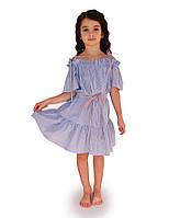 Платье детское летнее Голубая полоска ТМ Прованс by Vona