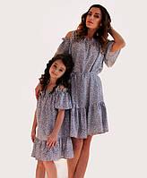 Платье мама и дочка Цветочек ТМ Прованс by Vona