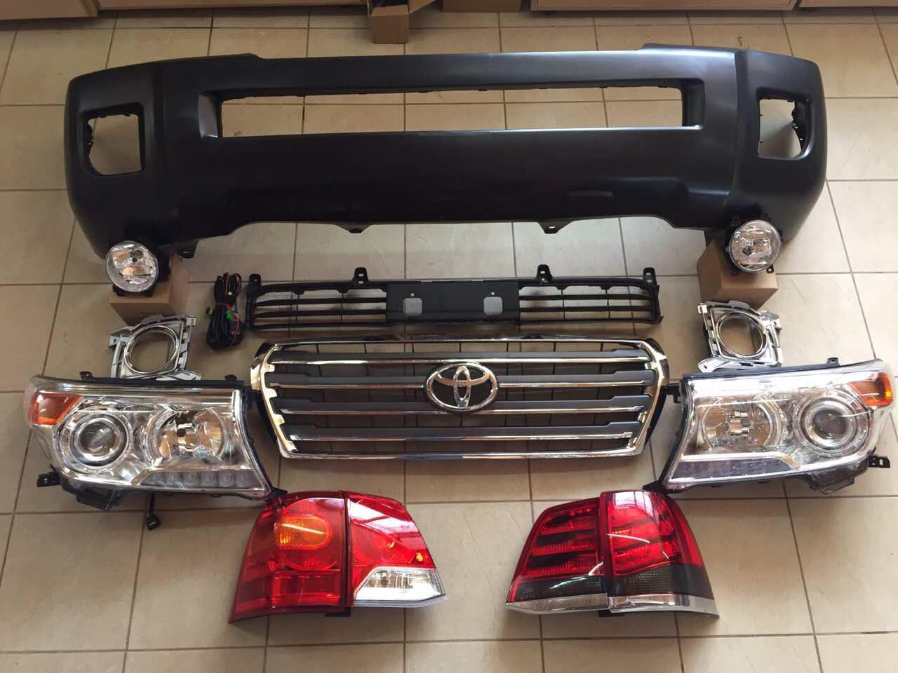 Комплект рестайлинга Toyota Land Cruiser 200 с 2007 года в 2012