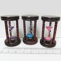 """Часы песочные декоративные """"Classic"""" дерево 11.5x6.7 см."""