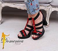 Женские красивые босоножки Cavalli на каблуке