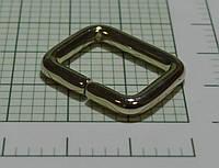 Рамка для сумок (Италия) металлическая разъемная (белое золото, отполированное)