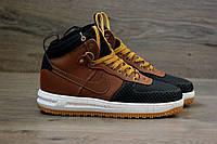 Кроссовки Nike Lunar Force 1 Duckboot brown без меха (аир форсы, найки)
