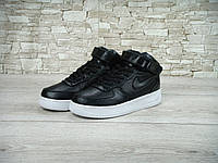 Кроссовки Nike Air Force High black (Реплика ААА+), фото 1