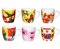 Чашка Цветы 330 мл SNT 2184