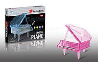 """Пазлы 3D кристальные """"Пианино"""" (розовое)"""