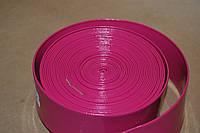 Тесьма ременная из кожзама 4 см розовый