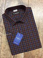 Мужская рубашка сине-красная клетка