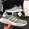 Кроссовки Adidas NMD Runner PK Solid Grey. Живое фото! Топ качество! (Реплика ААА+)