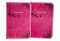 "Папка для труда (на змейке) A4 картон ""Black Cat"" 7871"