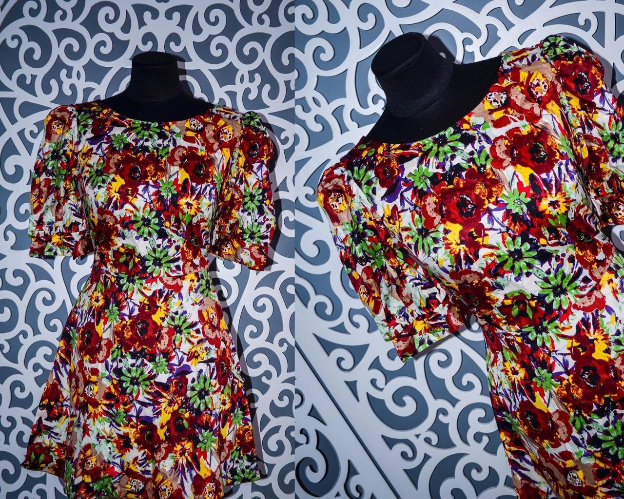 Стильные женские платья штапель рукава фонарики 44-46р норма