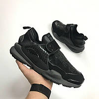 Кроссовки Nike Dart x Stone Island Black. Живое фото. Топ качество (Реплика ААА+)