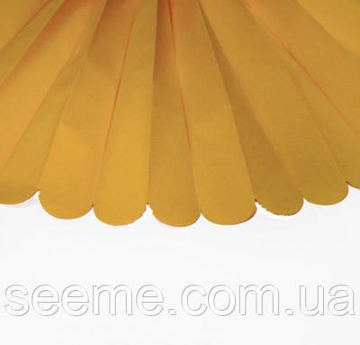 Бумажные помпоны из тишью «Noble gold», диаметр 25 см.