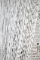 Однотонные шторы-нити №1 (белый)
