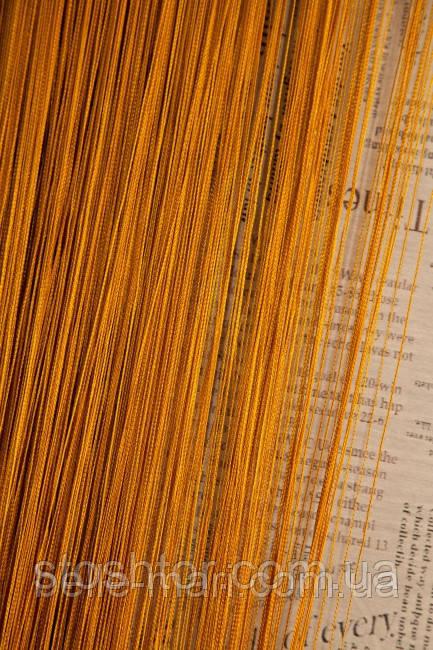 Однотонные шторы-нити №16 (золотой)