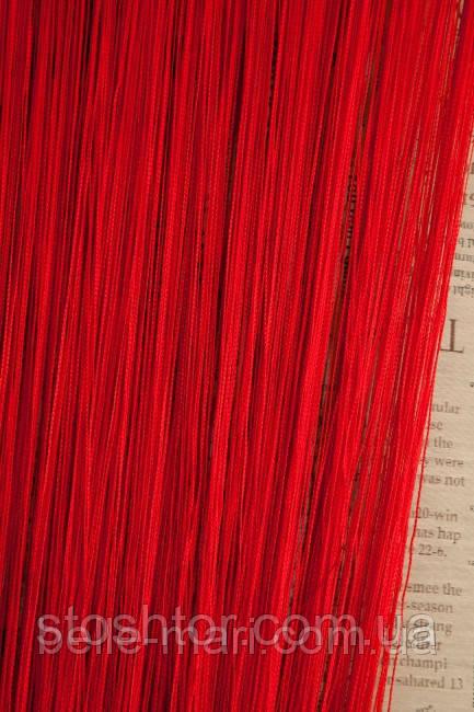 Однотонные шторы-нити №17 красный 3*2.8