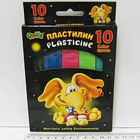 Пластилин 1163 (10 цв.) в картонной упаковке